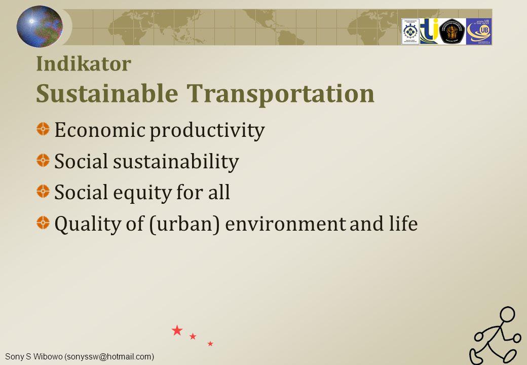 Indikator Sustainable Transportation