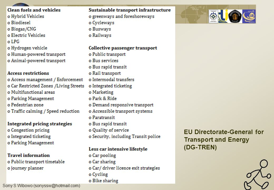 EU Directorate-General for Transport and Energy (DG-TREN)