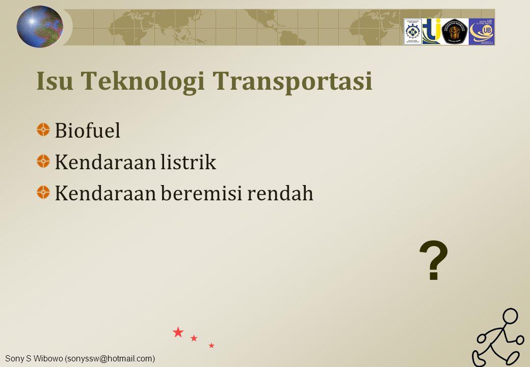 Isu Teknologi Transportasi