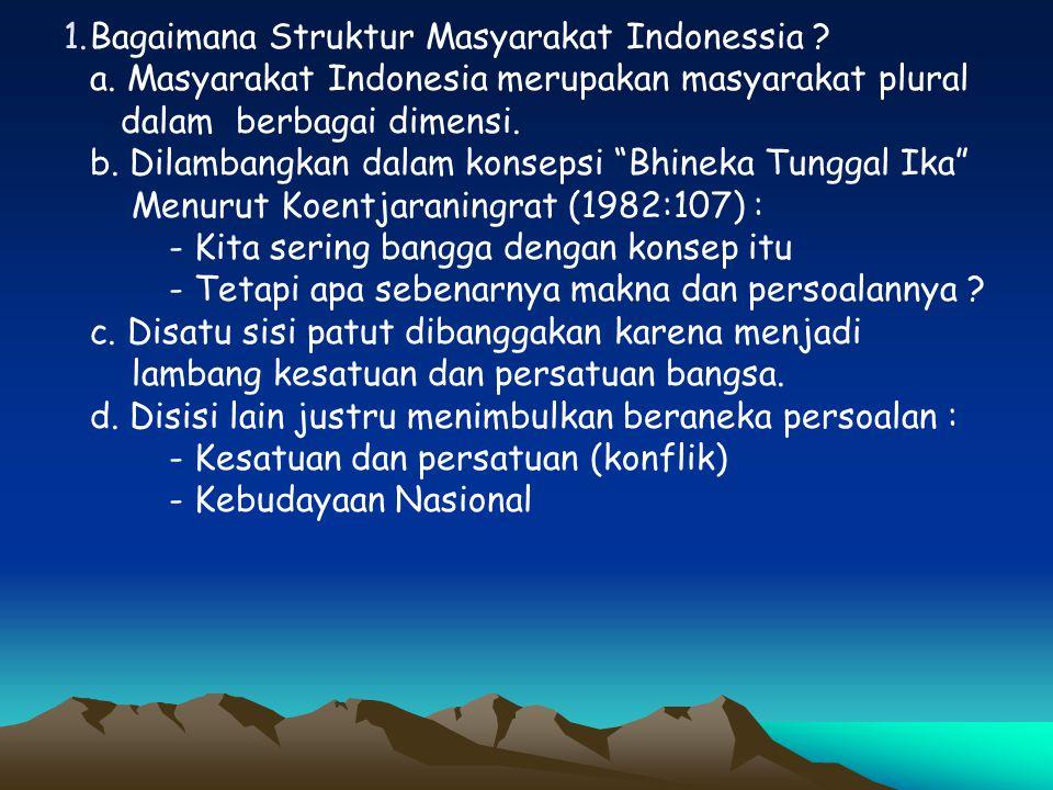 Bagaimana Struktur Masyarakat Indonessia