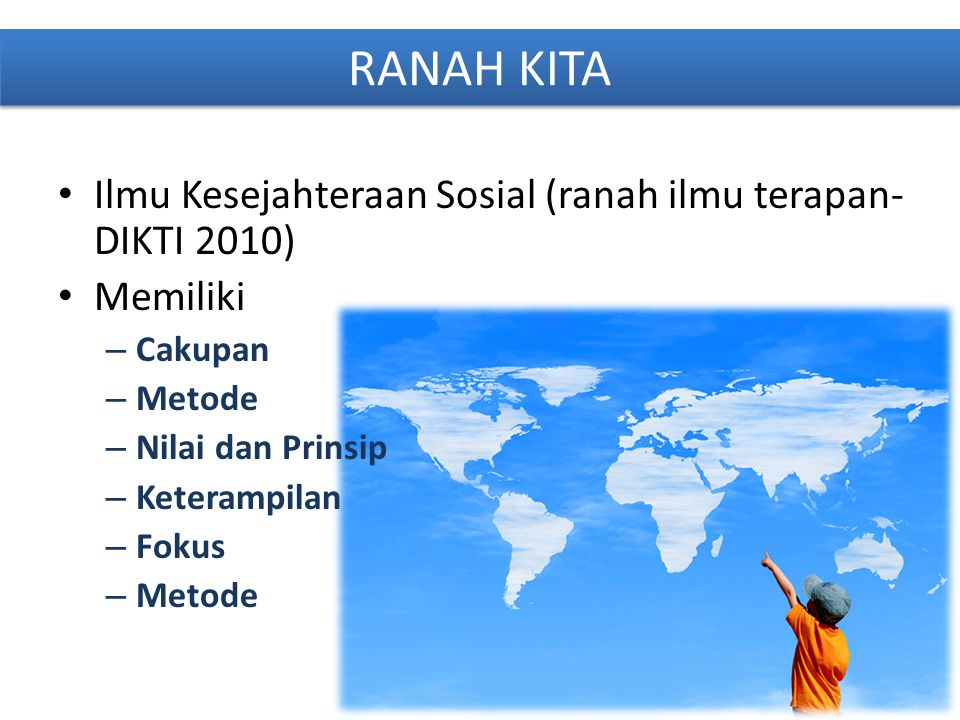 RANAH KITA Ilmu Kesejahteraan Sosial (ranah ilmu terapan-DIKTI 2010)