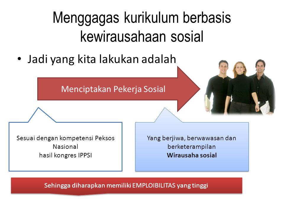 Menggagas kurikulum berbasis kewirausahaan sosial