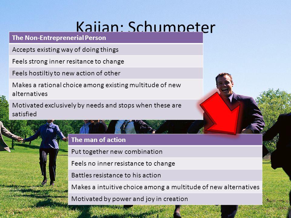 Kajian: Schumpeter The Non-Entreprenerial Person