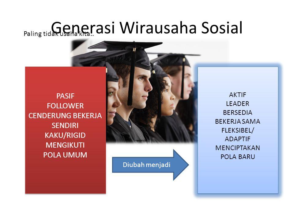 Generasi Wirausaha Sosial