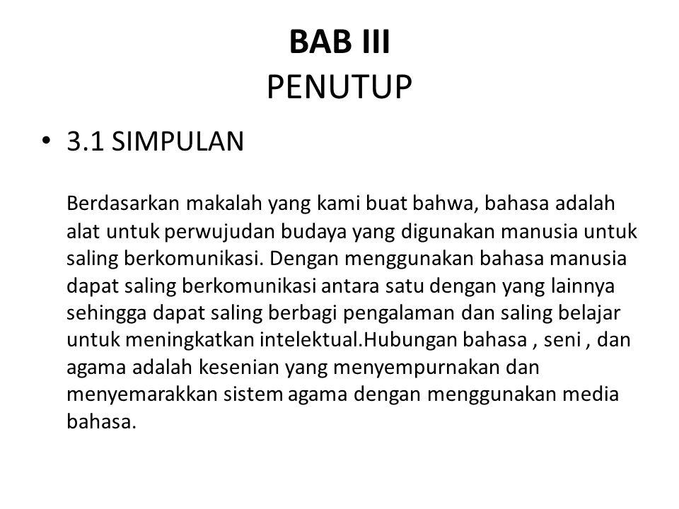 BAB III PENUTUP 3.1 SIMPULAN