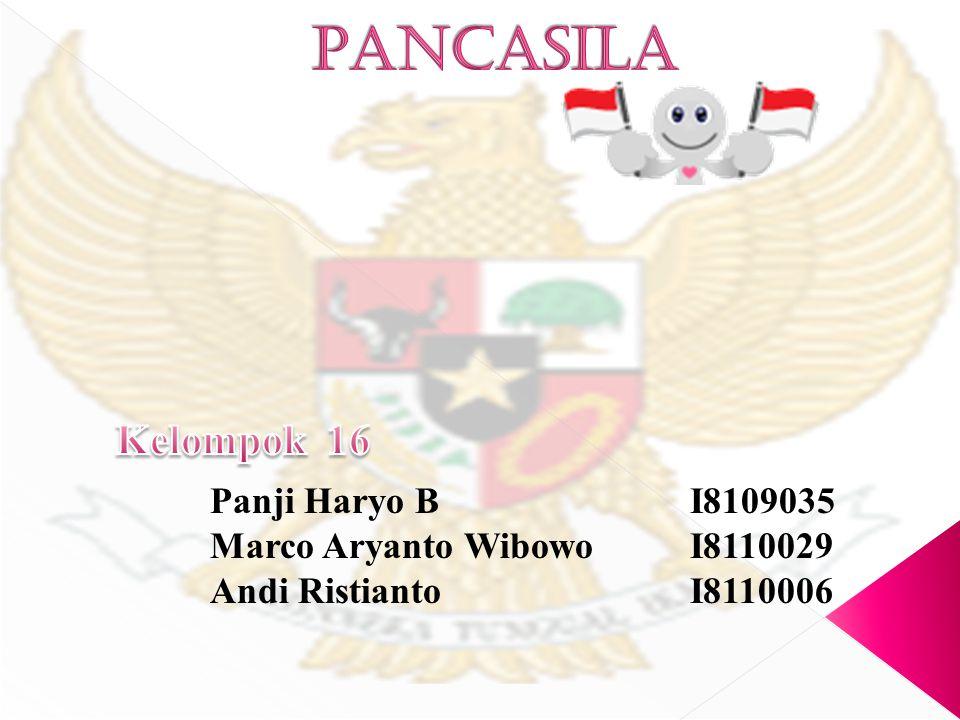 PANCASILA Kelompok 16 Panji Haryo B I8109035