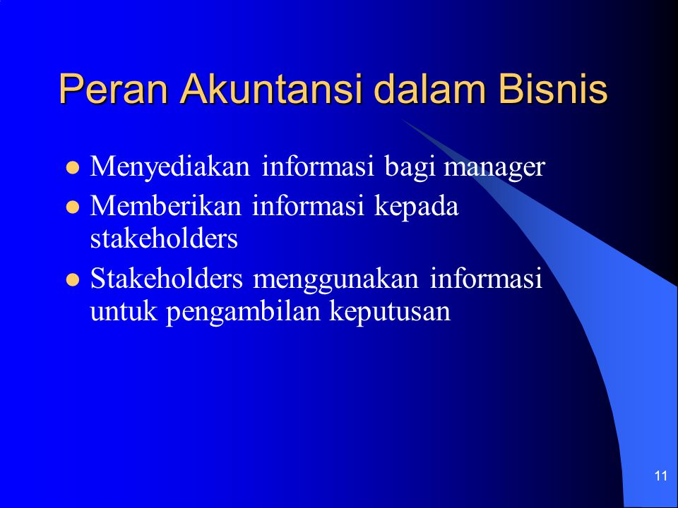 Peran Akuntansi dalam Bisnis
