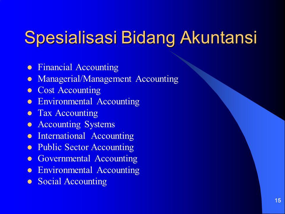 Spesialisasi Bidang Akuntansi
