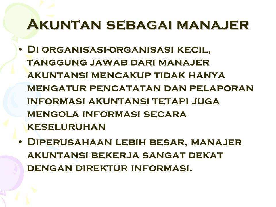 Akuntan sebagai manajer