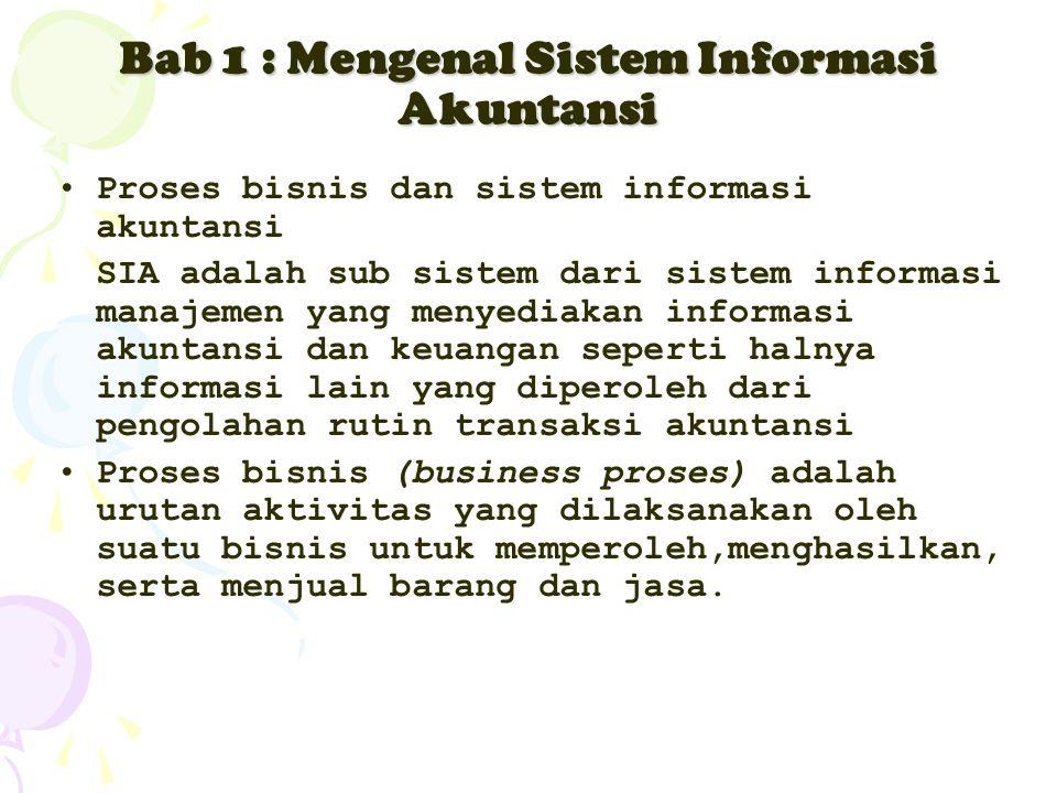 Bab 1 : Mengenal Sistem Informasi Akuntansi