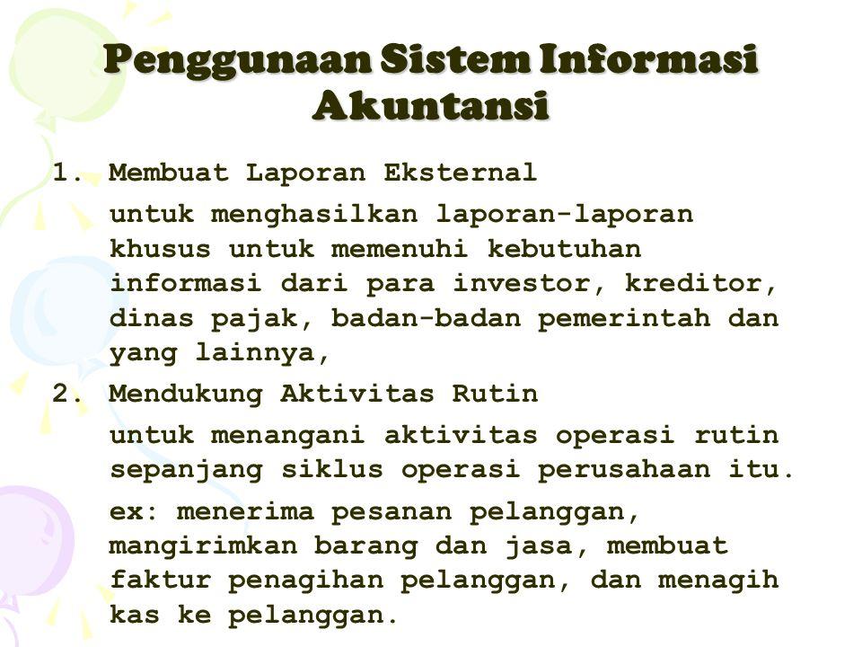 Penggunaan Sistem Informasi Akuntansi