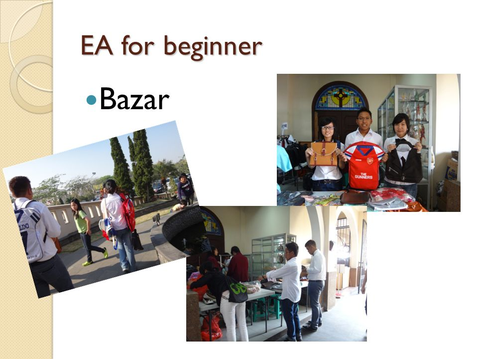 EA for beginner Bazar