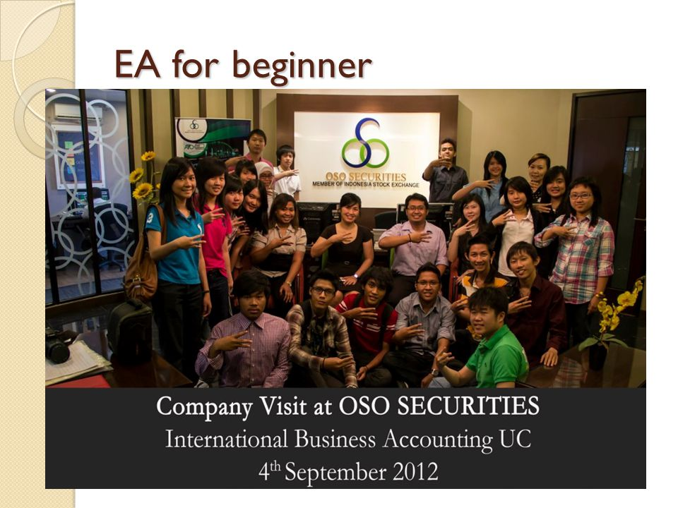 EA for beginner Company Visit
