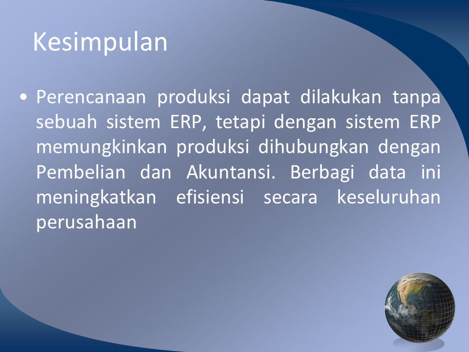M0254 Enterprise Resources Planning ©2004