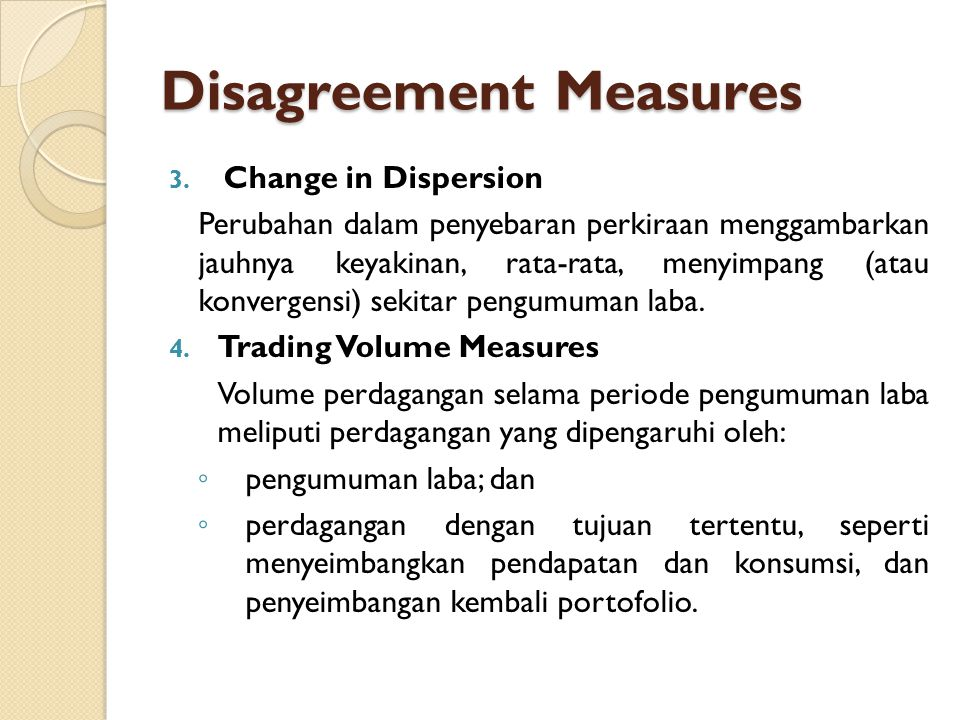 Disagreement Measures