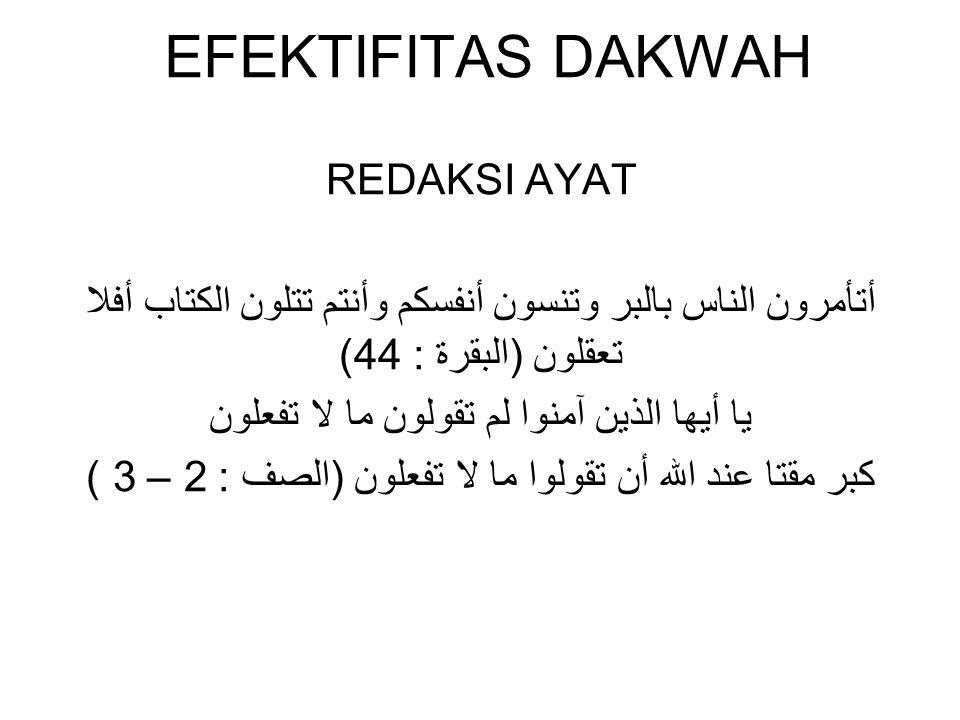 EFEKTIFITAS DAKWAH REDAKSI AYAT