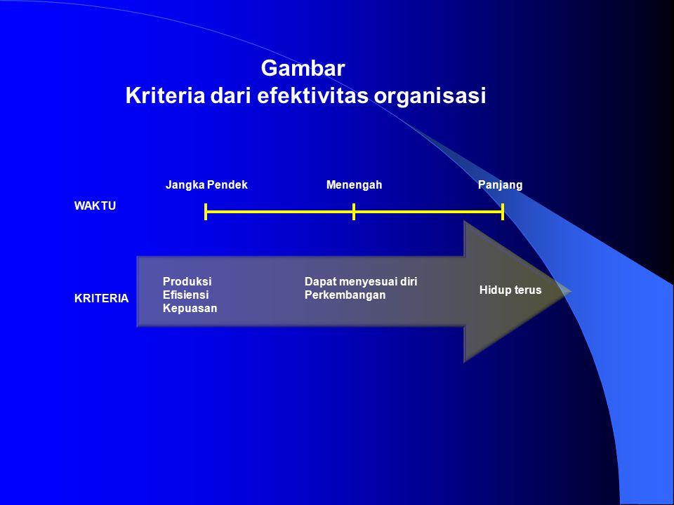 Kriteria dari efektivitas organisasi