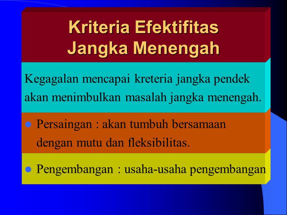 Kriteria Efektifitas Jangka Menengah