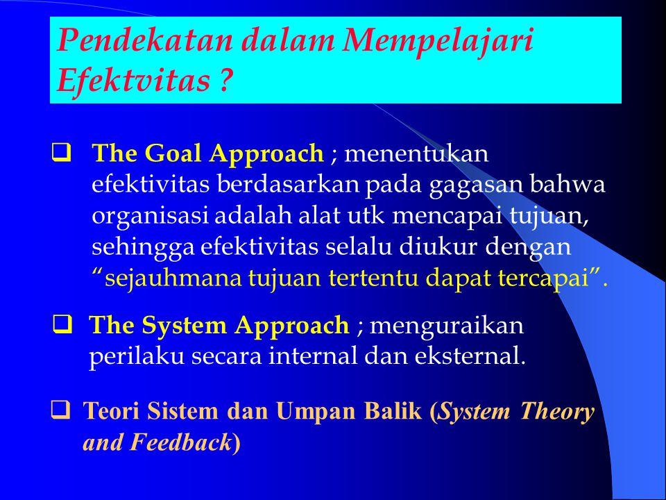 Pendekatan dalam Mempelajari Efektvitas