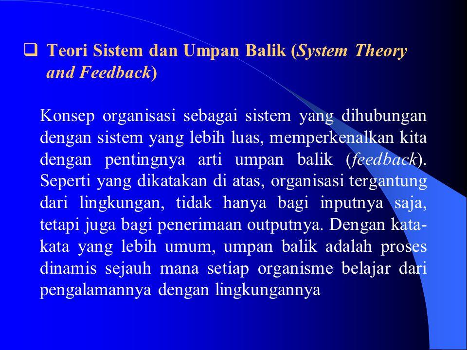 Teori Sistem dan Umpan Balik (System Theory and Feedback)