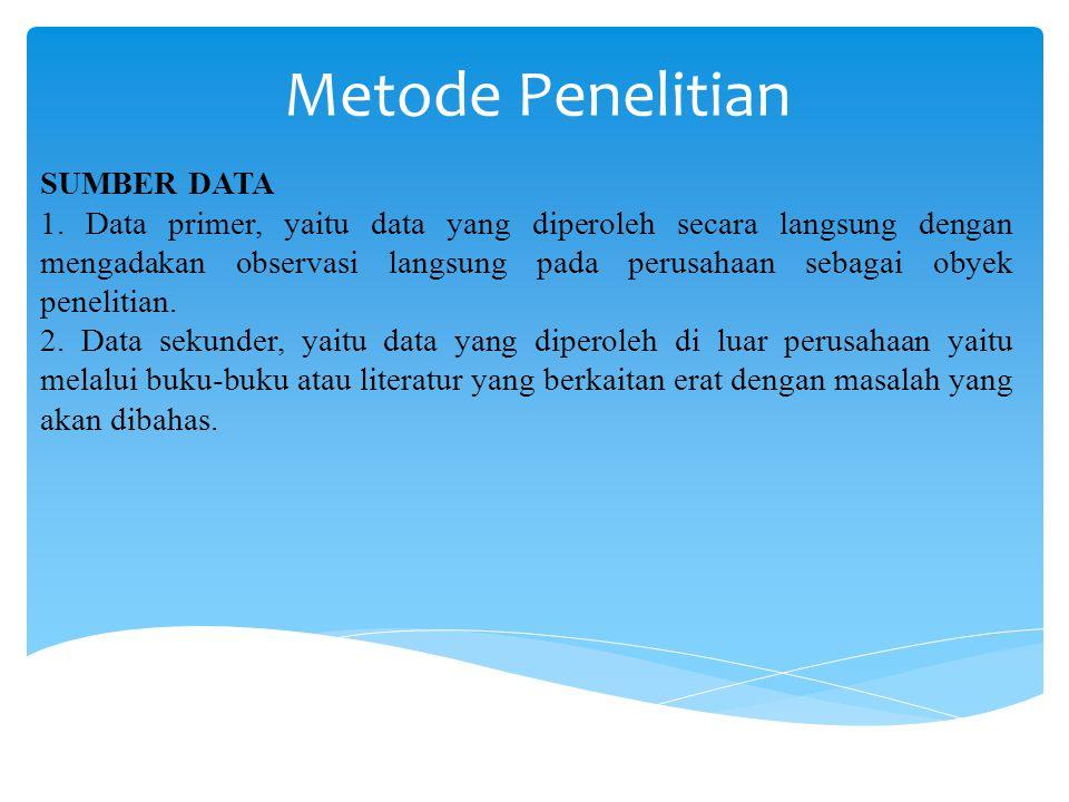 Metode Penelitian SUMBER DATA