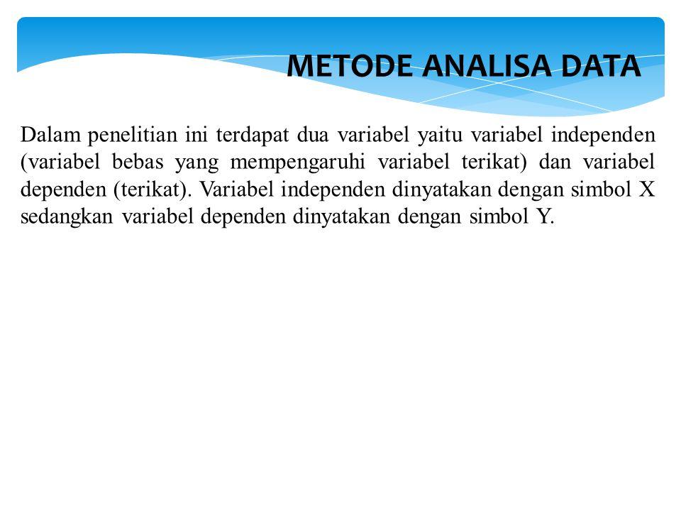 METODE ANALISA DATA