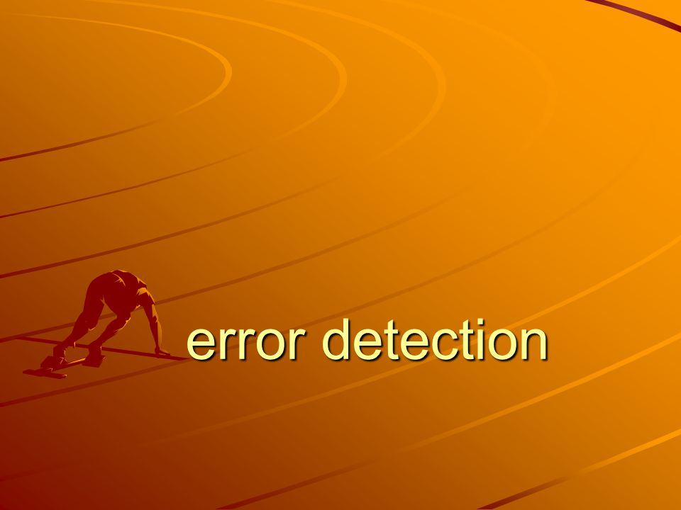 error detection