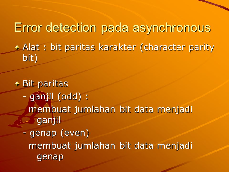 Error detection pada asynchronous