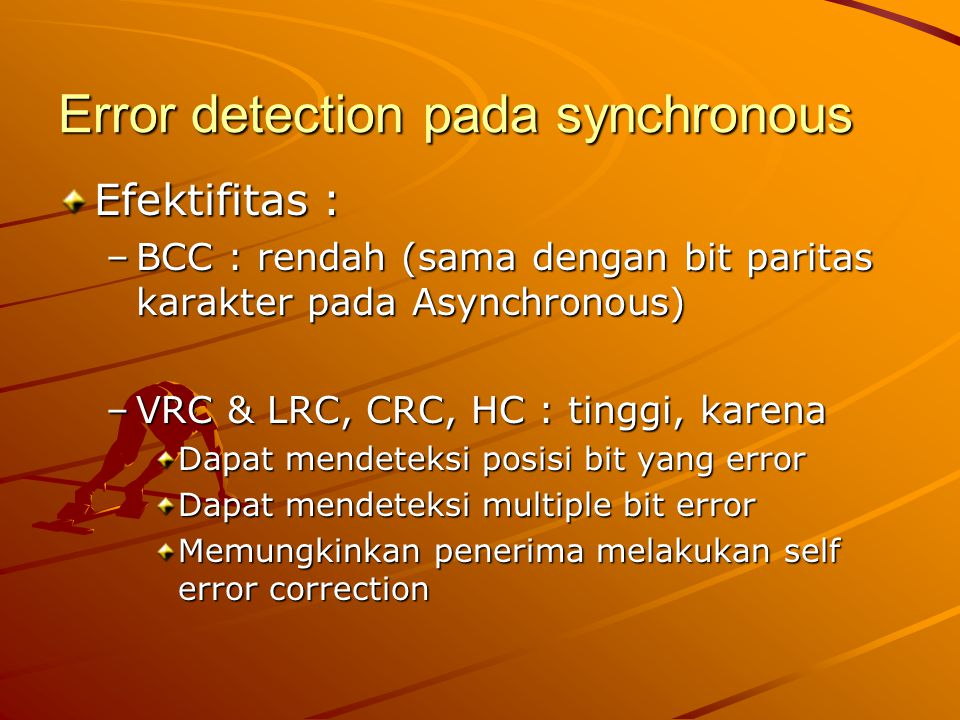Error detection pada synchronous