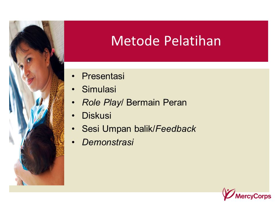 Metode Pelatihan Presentasi Simulasi Role Play/ Bermain Peran Diskusi