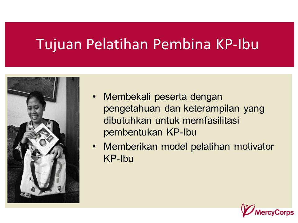 Tujuan Pelatihan Pembina KP-Ibu