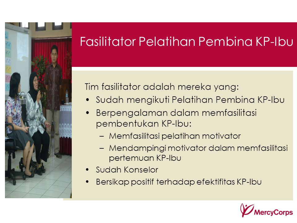 Fasilitator Pelatihan Pembina KP-Ibu