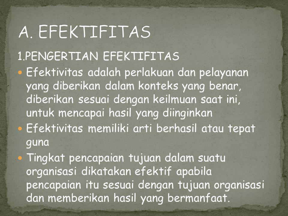 A. EFEKTIFITAS 1.PENGERTIAN EFEKTIFITAS