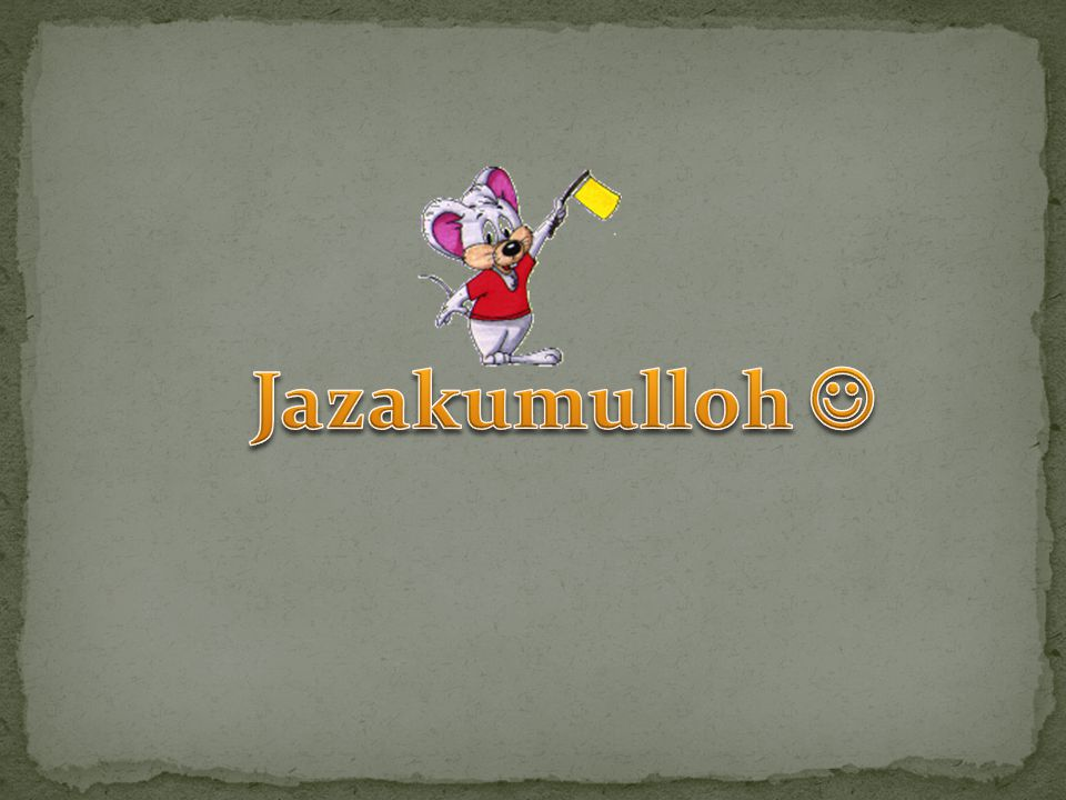 Jazakumulloh 