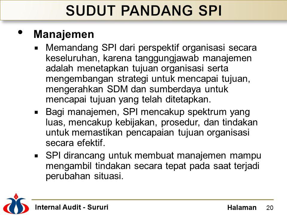 SUDUT PANDANG SPI Manajemen