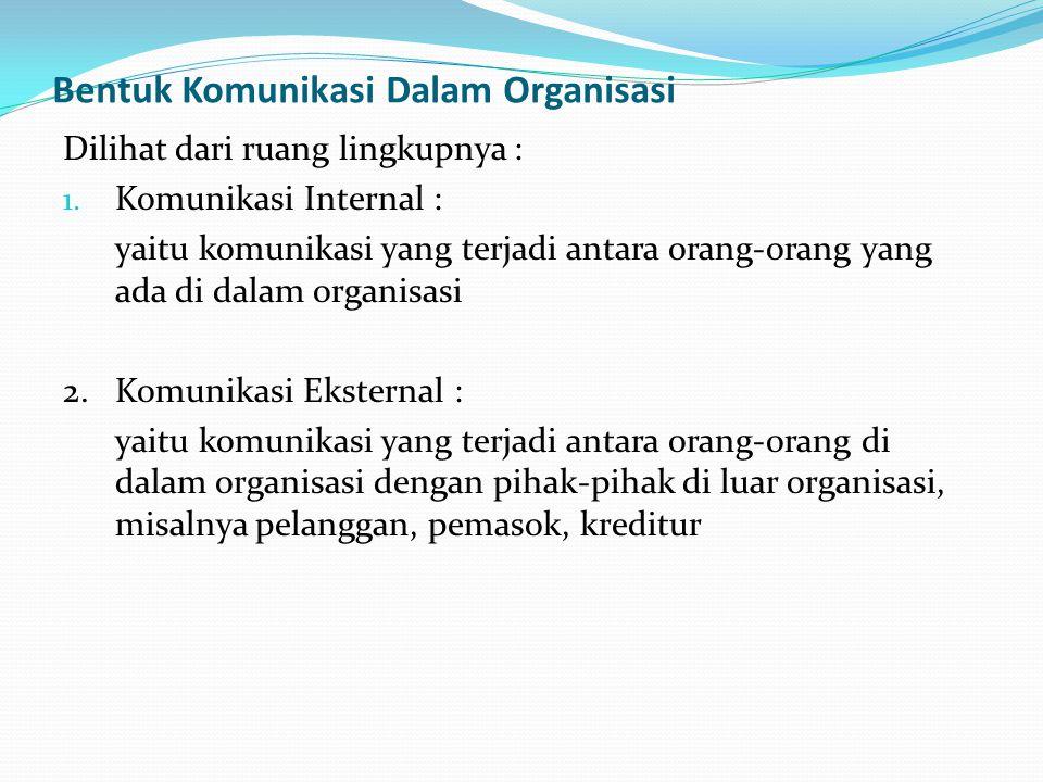 Bentuk Komunikasi Dalam Organisasi