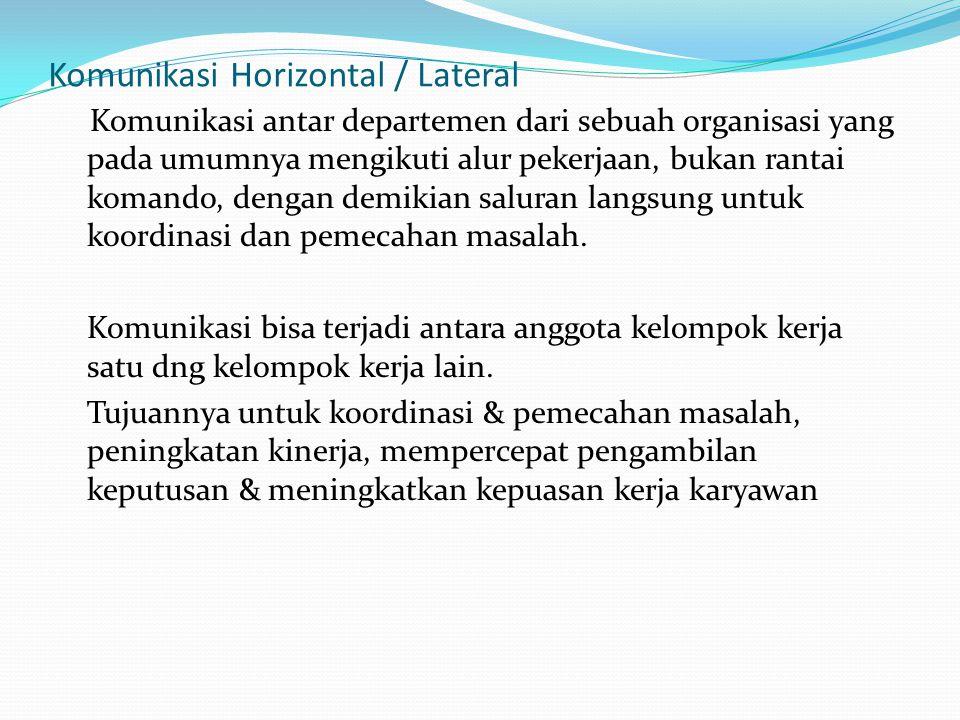 Komunikasi Horizontal / Lateral