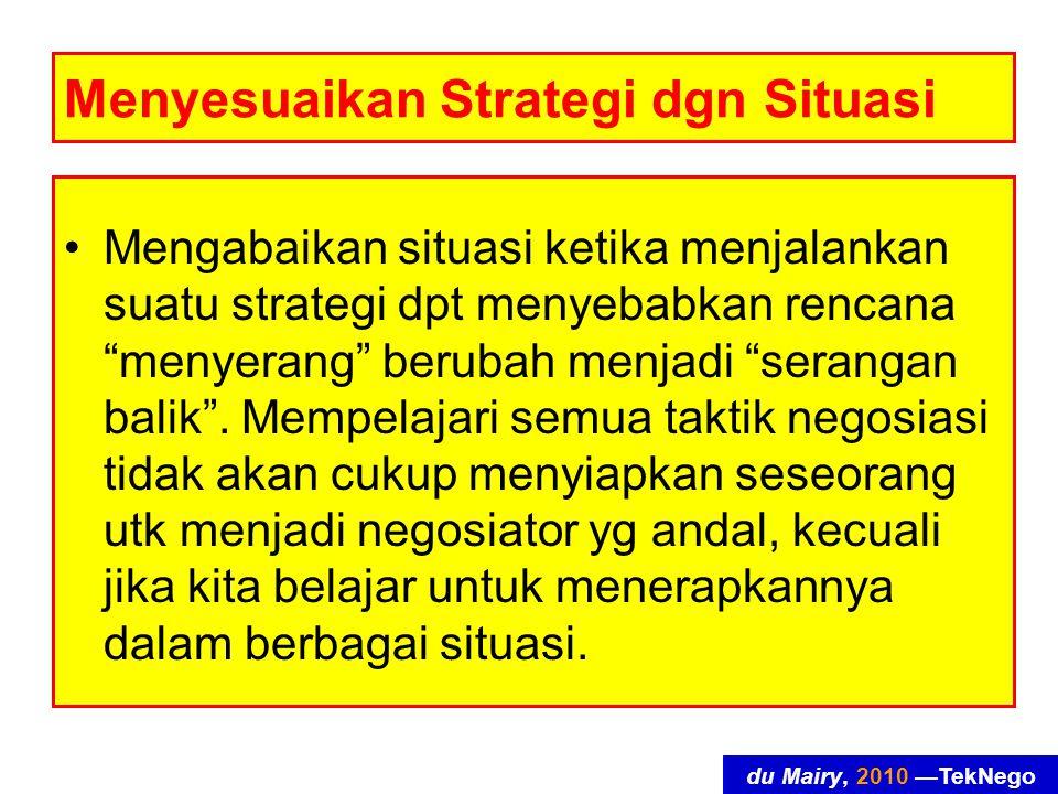 Menyesuaikan Strategi dgn Situasi