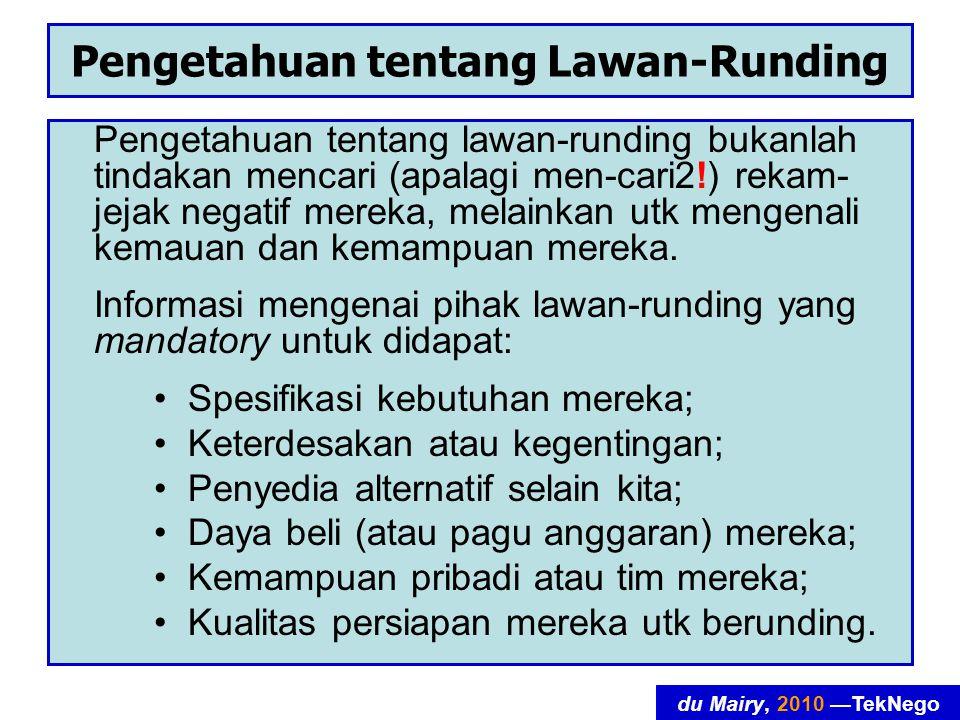Pengetahuan tentang Lawan-Runding