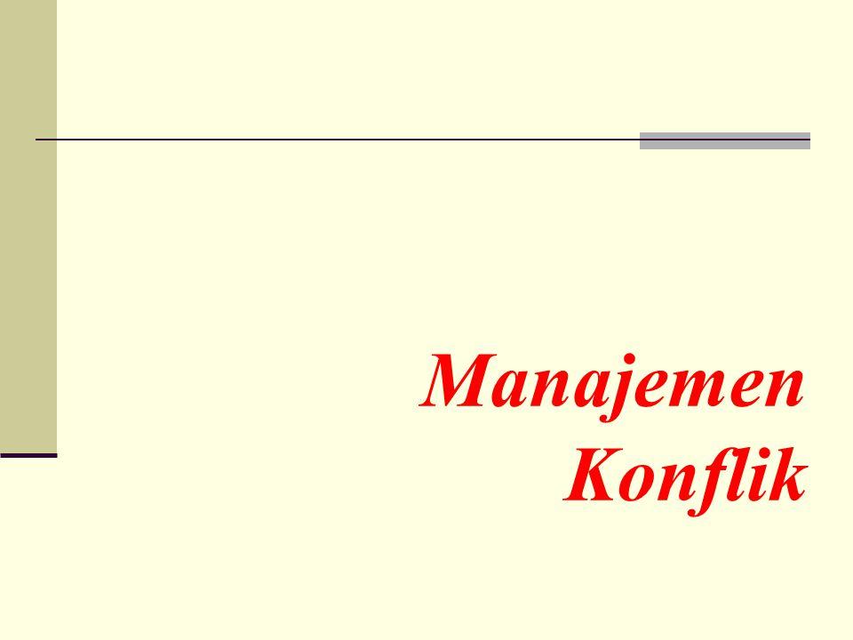 Manajemen Konflik