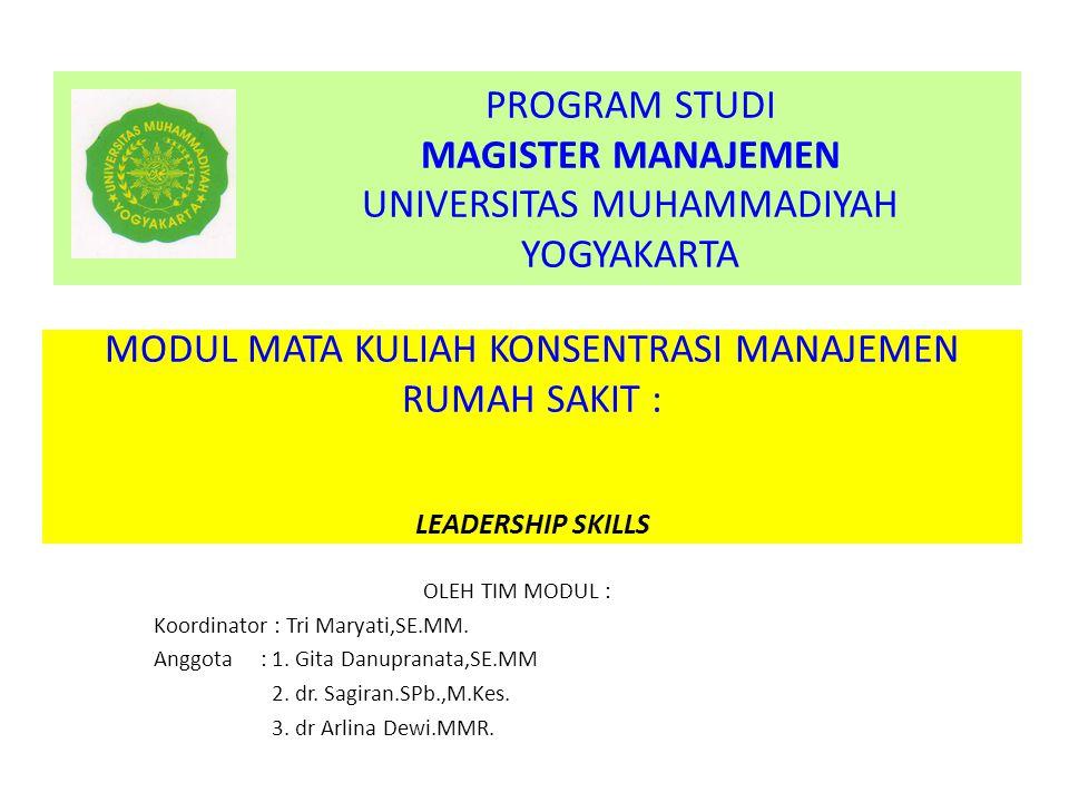 PROGRAM STUDI MAGISTER MANAJEMEN UNIVERSITAS MUHAMMADIYAH YOGYAKARTA