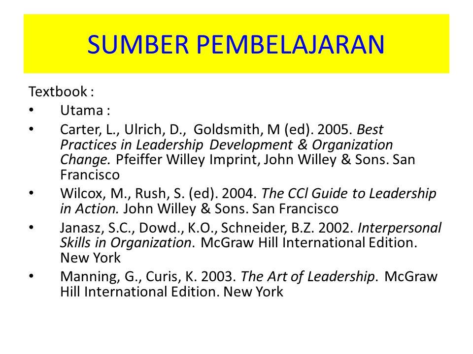 SUMBER PEMBELAJARAN Textbook : Utama :