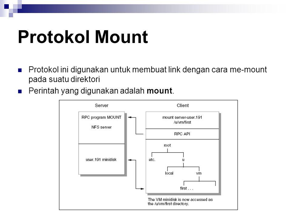 Protokol Mount Protokol ini digunakan untuk membuat link dengan cara me-mount pada suatu direktori.