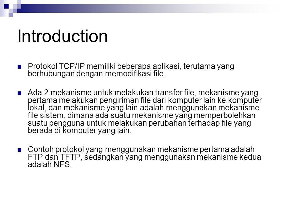 Introduction Protokol TCP/IP memiliki beberapa aplikasi, terutama yang berhubungan dengan memodifikasi file.