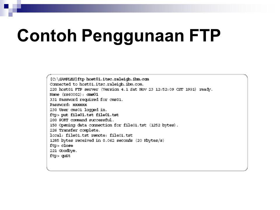 Contoh Penggunaan FTP