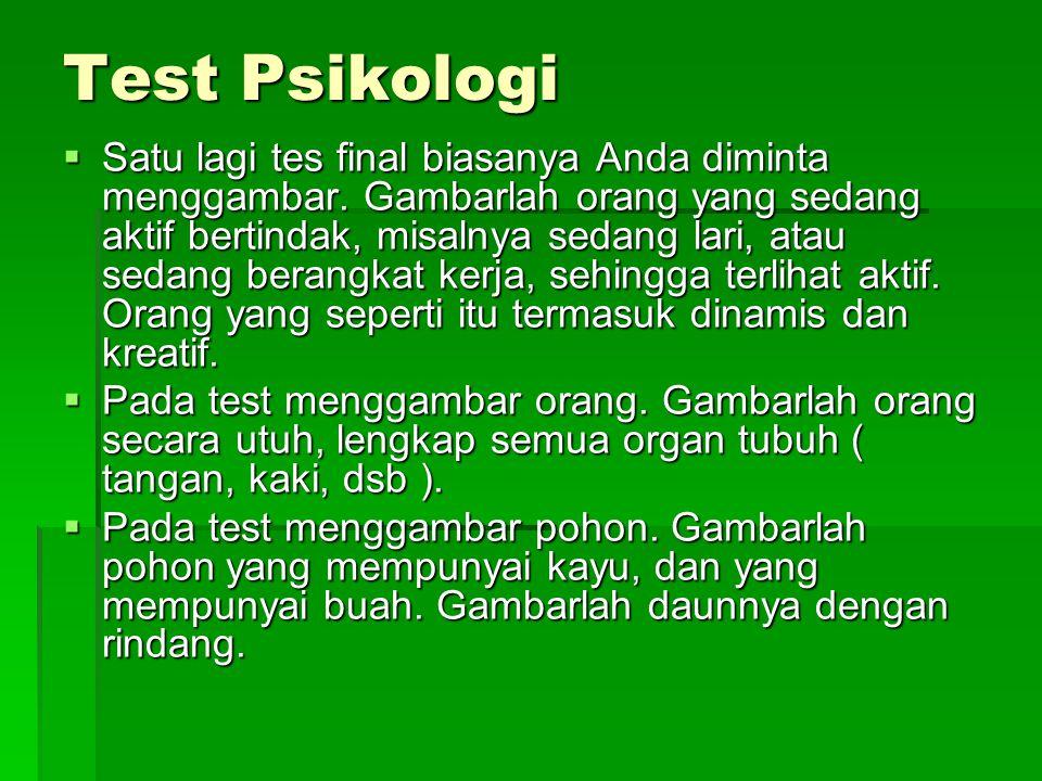 Test Psikologi