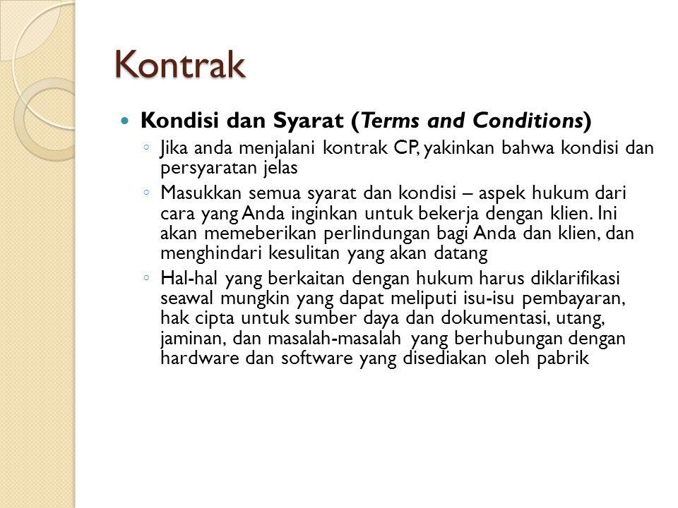 Kontrak Kondisi dan Syarat (Terms and Conditions)