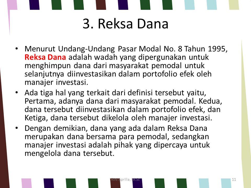 3. Reksa Dana