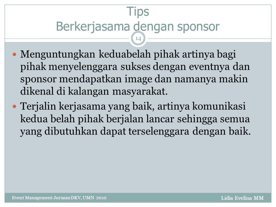 Tips Berkerjasama dengan sponsor