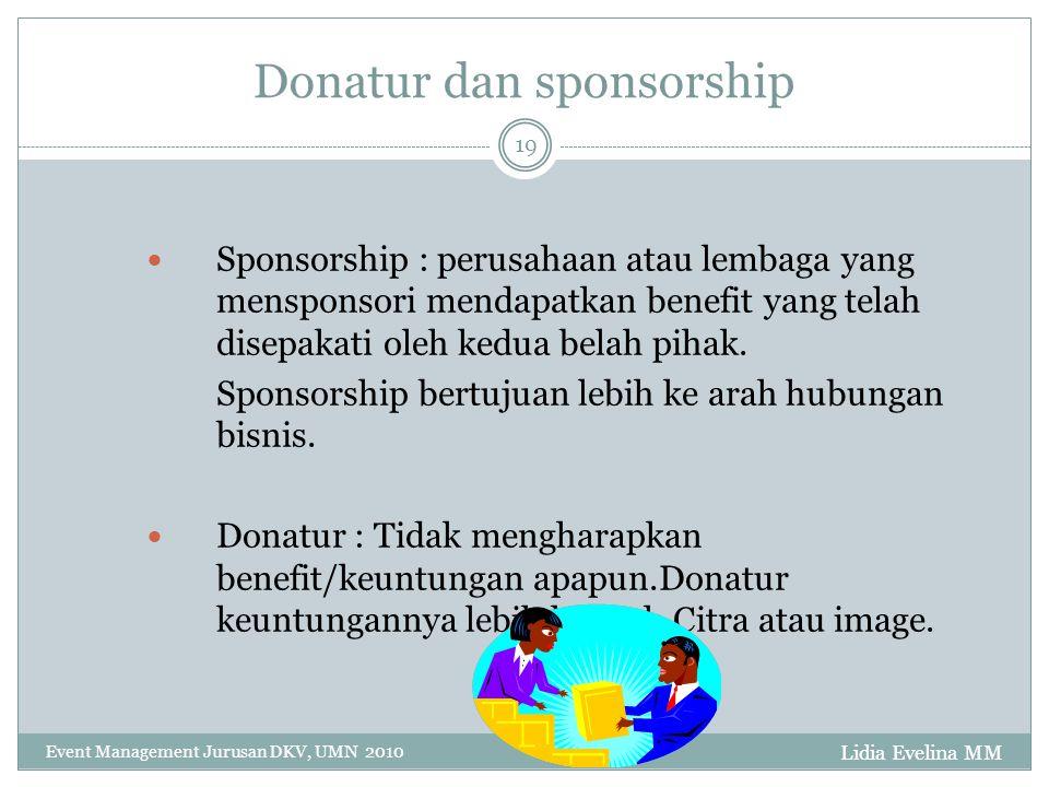 Donatur dan sponsorship